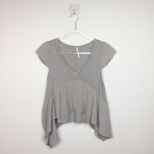 • FREE PEOPLE • Taupe Asymmetrical Top Sz XS
